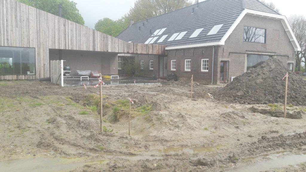 Start aanleg tuin Achterdijk in Werkhoven