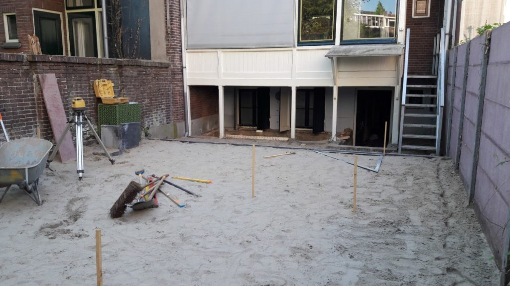 Start aanleg binnentuin Maliebaan in Utrecht