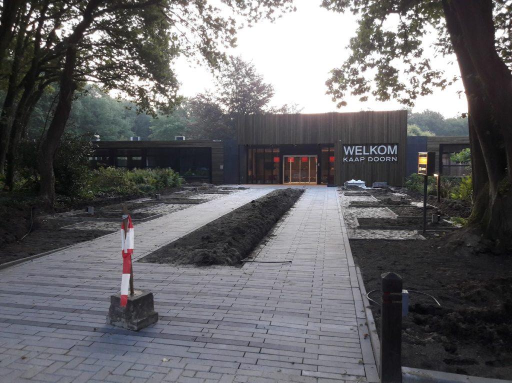 Aanleg nieuwe entree conferentiecentrum Kaap Doorn in Doorn